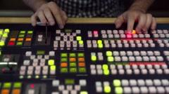 Broadcast Tv Studio Production - Vision Switcher Studio Director Stock Footage