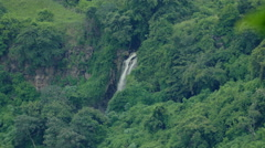 Waterfall at lake Masaya Stock Footage