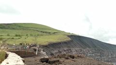 People watching at Masaya vulcano - stock footage