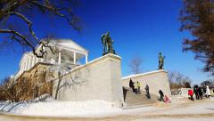 Panorama of Cameron Gallery in Pushkin city, St. Petersburg, Russia Stock Footage