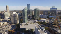 Aerial of Buckhead Near Atlanta, Georga Stock Footage