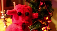Krampus christmas devil Stock Footage