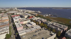 Aerial of Downtown Charleston, South Carolina Stock Footage