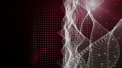 Futuristic animation with moving wave object and light, loop HD 1080p Stock Footage