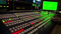 Broadcast Tv Studio Production - Vision Switcher Studio Director,  Broadcast Vid Stock Footage