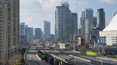 Toronto, ON, Canada - The Gardiner Expressway Stock Footage