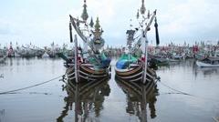 Twin Fisherman Boats Stock Footage