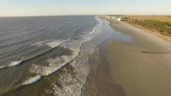 Aerial of Folly Beach Coastline Stock Footage