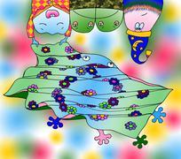Blanket and teeth. Stock Illustration