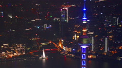 Oriental Pearl Tower,Shanghai,CHINA Stock Footage