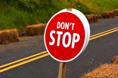 Don't Stop Road Sign Stock Photos