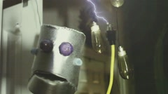 Robot electricity electric shocking shock Stock Footage