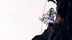 descent down danger or normal route, the conqueror of vertices. climber - stock footage