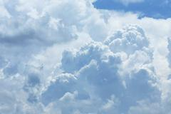 White cloud covered sky, cloudy dramatic sky, abstract heaven background Kuvituskuvat