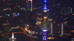 Oriental Pearl Tower,Shanghai,CHINA - stock footage