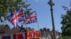 Union Jacks At An English Fayre Stock Footage