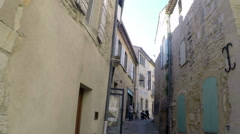 Ancient Back Alley Pan Gordes France Stock Footage