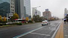 Korean cars in the streets of Seoul in Seoul, Korea. Arkistovideo