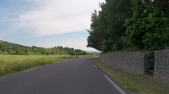 Cycling POV Approaching French Village Stock Footage