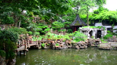 Traditional Chinese private garden - Yu Yuan, Shanghai, China - stock footage