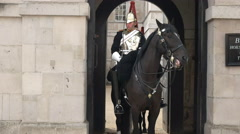 Changing of the horse guards, london Stock Footage