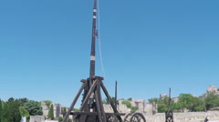 Trebuchet Pan Down Stock Footage