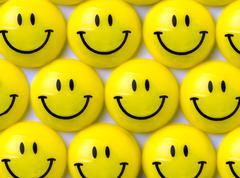 Yellow smileys Stock Photos
