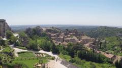 The Town Les Baux-de-Provence Stock Footage