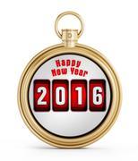 New year 2016 chronometer Stock Illustration