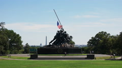 Wide view of the iwo jima memorial, washington Stock Footage