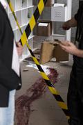Stock Photo of Blood at the crime scene