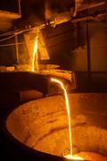 Steel plant - stock photo