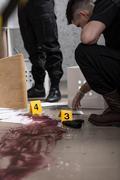 Stock Photo of Body at the crime scene