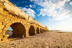 Aqueduct in Cesarea, Israel Stock Photos