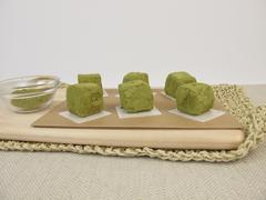 Green matcha confection Stock Photos