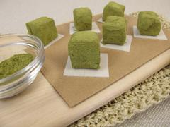 Green matcha confection - stock photo