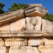 Ruins stone and theatre in  antalya  arykanda turkey asia sky and  old  templ Stock Photos