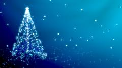 Christmas tree with stars - blue variant Stock Illustration