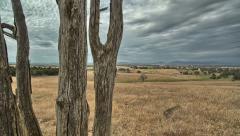 Farm Establishing Shot/Timelapse - stock footage