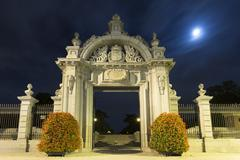 Monumental gate in madrid Stock Photos