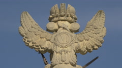 Bass-Relief of Austria's emblem on the first gate of the fortress in Alba Iulia Stock Footage