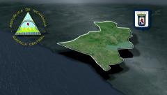 Leon with Coat of arms animation map Stock Footage