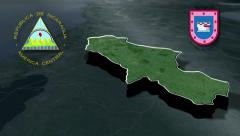 Matagalpa with Coat of arms animation map Stock Footage