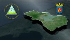 Managua with Coat of arms animation map Stock Footage