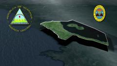 Rivas with Coat of arms animation map Stock Footage
