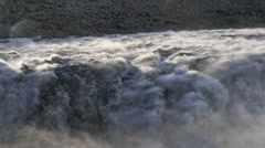 ICELAND Dettifoss waterfall Wasserfall spray Gischt Stock Footage