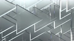 white crystal 3d triangles abstract light background - stock footage