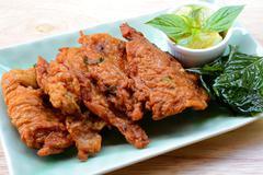 Fried Fish Cakes Thai Food Stock Photos