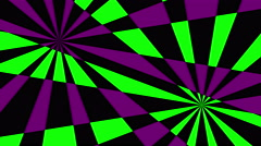 Retro Pinwheels Psychedelic Hypnotic VJ Background loop green purple  Stock Footage