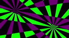 Retro Pinwheels Psychedelic Hypnotic VJ Background loop green purple  - stock footage